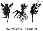 elf siluettes | Shutterstock .eps vector #1103588