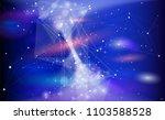 star trek among galaxies... | Shutterstock .eps vector #1103588528