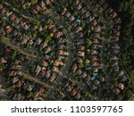 top down aerial drone image of... | Shutterstock . vector #1103597765