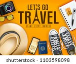let's go travel enjoy every... | Shutterstock .eps vector #1103598098