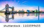 panorama of london tower bridge ... | Shutterstock . vector #1103599655