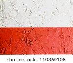 The Polish Flag Painted On Wall