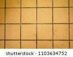 dirty yellow floor            | Shutterstock . vector #1103634752