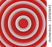 Red and white concentric abstraction - stock photo