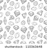 black and white style diamonds... | Shutterstock .eps vector #110363648