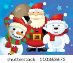 the christmas gang   funny... | Shutterstock . vector #110363672