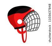 hockey helmet. sport helmet.... | Shutterstock .eps vector #1103637848