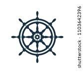 ship wheel on white background. ... | Shutterstock .eps vector #1103642396