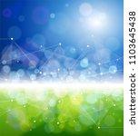 blue green bokeh   environment... | Shutterstock .eps vector #1103645438