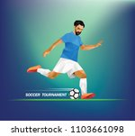 low poly design. soccer player... | Shutterstock .eps vector #1103661098