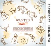 wild west background. wanted... | Shutterstock .eps vector #1103686976