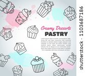 cupcake background with... | Shutterstock .eps vector #1103687186