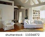 sunny living room in the loft | Shutterstock . vector #11036872