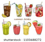 set of non alcoholic summer... | Shutterstock .eps vector #1103688272