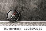 metallic compass with red... | Shutterstock . vector #1103693192