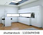3d illustration of white modern ... | Shutterstock . vector #1103694548