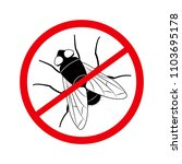 stop the fly  insect pest ... | Shutterstock .eps vector #1103695178