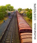 Small photo of rail indian railway goods train nature lane