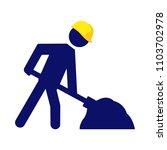 under construction warning sign.... | Shutterstock .eps vector #1103702978