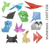 origami animal made from...   Shutterstock . vector #110371136