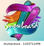 color vector snowboarder....   Shutterstock .eps vector #1103711498