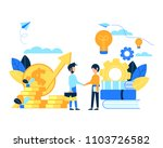 the concept of exchange between ... | Shutterstock . vector #1103726582