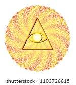 mandala with ornamentation of... | Shutterstock .eps vector #1103726615