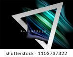 liquid fluid colors holographic ... | Shutterstock .eps vector #1103737322