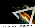 liquid fluid colors holographic ... | Shutterstock .eps vector #1103737328
