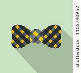 bow tie icon. flat illustration ...