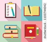 homework study school icons set.... | Shutterstock .eps vector #1103744042