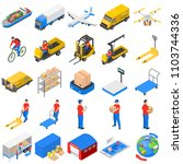 logistic delivery icons set.... | Shutterstock .eps vector #1103744336