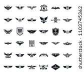 airforce military army badge... | Shutterstock .eps vector #1103745362