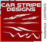 tribal and cool car stripe... | Shutterstock .eps vector #1103750672