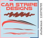 tribal and cool car stripe... | Shutterstock .eps vector #1103750705