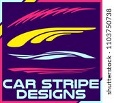 tribal and cool car stripe... | Shutterstock .eps vector #1103750738