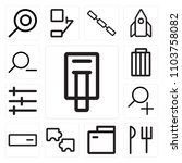 set of 13 icons such as printer ...