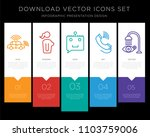 5 vector icons such as... | Shutterstock .eps vector #1103759006