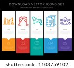 5 vector icons such as... | Shutterstock .eps vector #1103759102