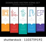 5 vector icons such as qr... | Shutterstock .eps vector #1103759192