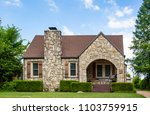 adorable vintage rock home with ... | Shutterstock . vector #1103759915