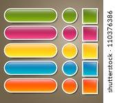 vector set of blank web buttons | Shutterstock .eps vector #110376386