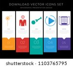 5 vector icons such as... | Shutterstock .eps vector #1103765795