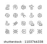 Stock vector simple set of money movement related vector line icons contains such icons as investment send 1103766338