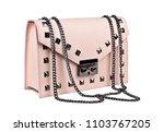 Pink Leather Handbag Isolated...