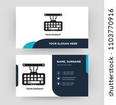 keyboard  business card design... | Shutterstock .eps vector #1103770916