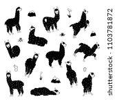vector set of characters.... | Shutterstock .eps vector #1103781872