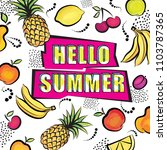 hello summer card background in ... | Shutterstock .eps vector #1103787365