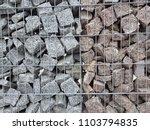 gabion fence wall from steel... | Shutterstock . vector #1103794835