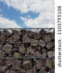 gabion fence wall from steel... | Shutterstock . vector #1103795108